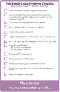 PFL Employer Checklist